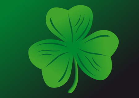 Vector shamrock on a green background