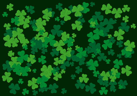 Vector Shamrocks background on the occasion of st patricks day Vector