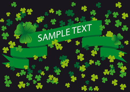 Vector Shamrocks on a banner background on the occasion of st patricks day Stock Vector - 2384439
