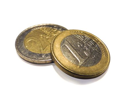 2 50: Eurocoins isolated over white