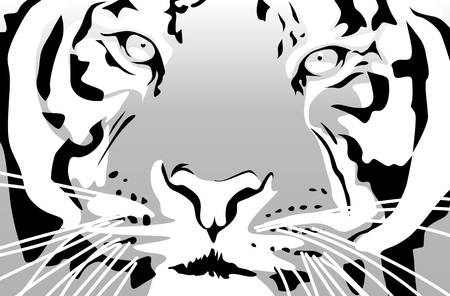 Abstract vector illustration of a tiger Stock Vector - 2396151