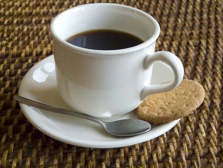 Coffee and a biscuit Stock Photo - 2451369