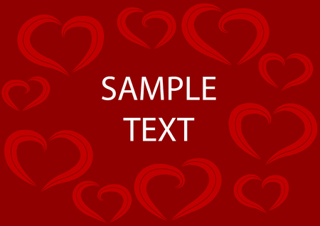 Abstract vector illustration of a valentines heart frame Vector