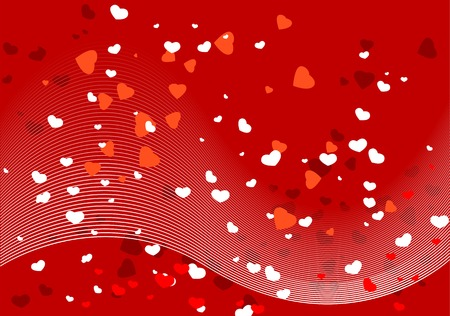 Abstract vector illustration of hearts and lines Vector