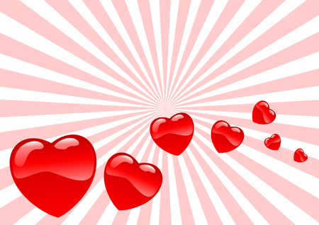 fiance: Abstract vector illustration of glassy hearts