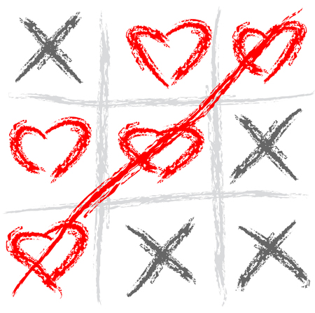 toes: Abstract vector illustration of a tic tac toe game Illustration
