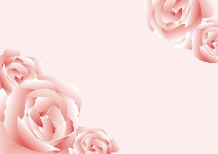 Zusammenfassung von Vektor-Illustration einige rosa Rosen Vektorgrafik