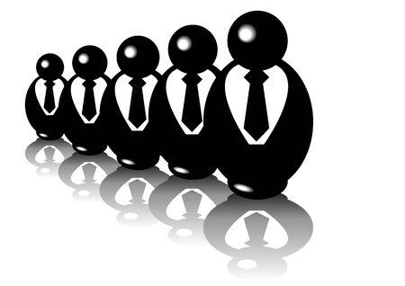 Zusammenfassung Vektor der babuschka businesspuppets Standard-Bild - 2505554