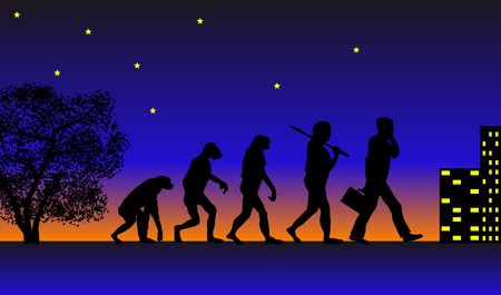 Abstract vector illustration of evolution Vector