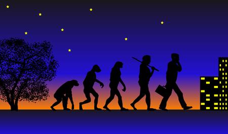 evolucion: Resumen ilustraci�n vectorial de la evoluci�n
