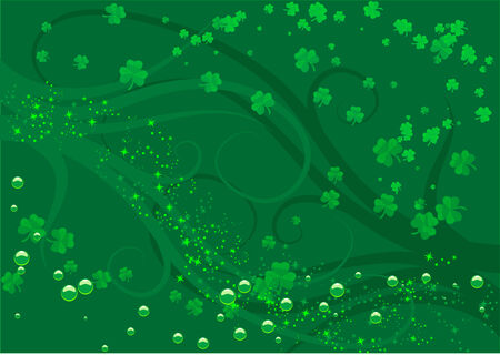 Abstract vector illustration of a st patricks day background Çizim
