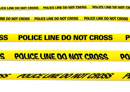 background csi: several versions of a police line
