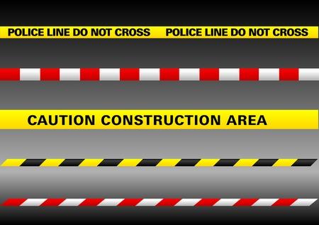 police arrest: Abstract illustrazione vettoriale di diverse linee di segno su uno sfondo bianco