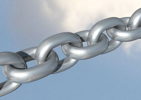 3d rendering of some chrome chains