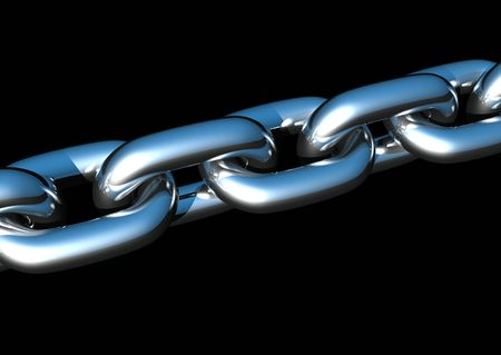 3d rendering of shiny new chains Stock Photo - 2643032