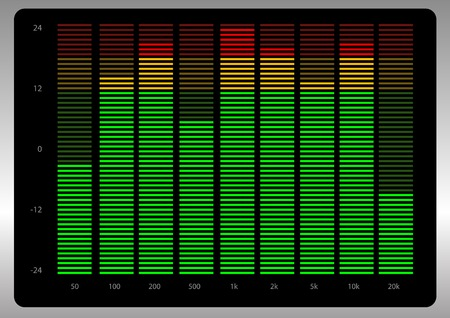 remix: Abstract vector illustration of a graphic equalizer Illustration