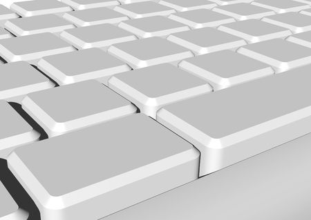 3d rendering of clear keyboard keys Stock Photo - 2842688