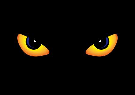 Abstract vector illustration of some predator eyes