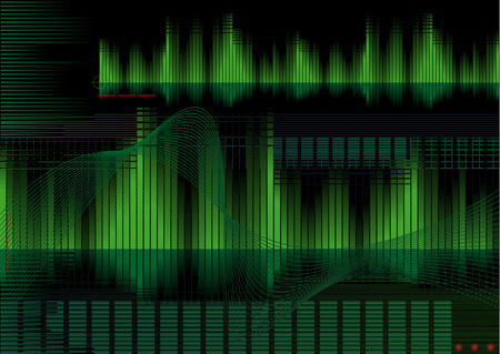 equaliser: Abstract vector illustration of a high-tech background