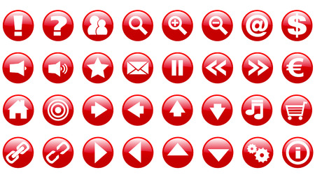 back link: Abstract vector illustration of several web icons