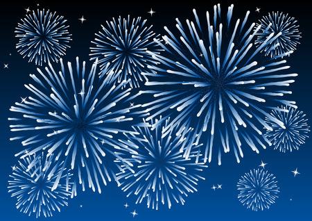fuegos artificiales: Resumen ilustraci�n vectorial de fuegos artificiales en el cielo