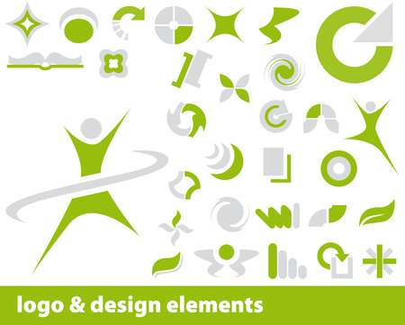Abstract vector elements for logo and design, colour is editable