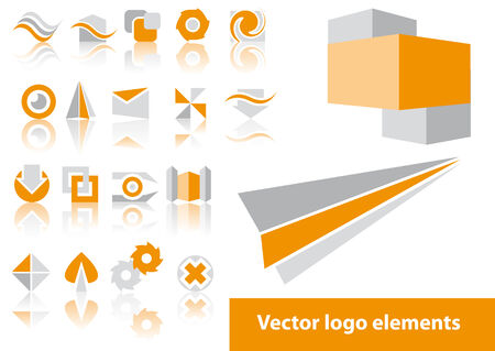 Abstract vector logo element illustrations Çizim