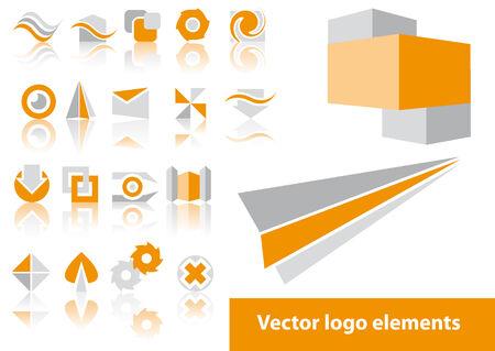 Zusammenfassung Vektor-Logo Element Illustrationen Standard-Bild - 3250874