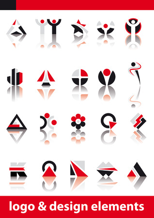 Abstract vector illustration of logo and design elements