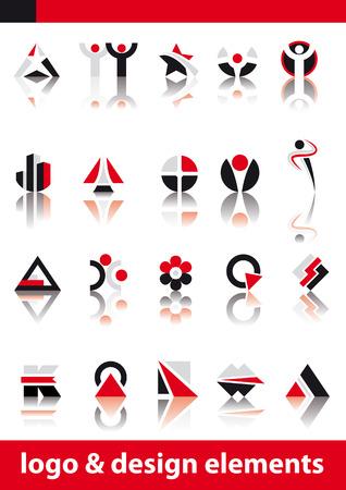 Resumen ilustración vectorial del logotipo y elementos de diseño  Foto de archivo - 3272123