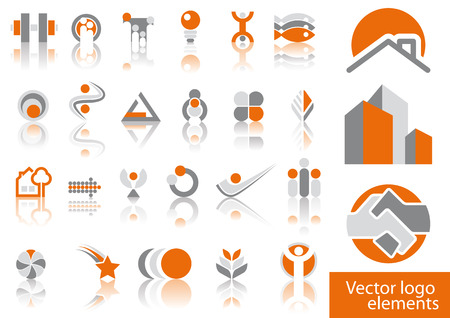 Abstract vector logo element illustrations