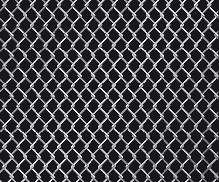 chain fence: Abstract vector illustration of a wire linked fence Illustration