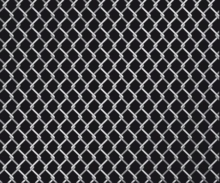 cadenas: Resumen ilustraci�n vectorial de una valla de alambre vinculados Vectores
