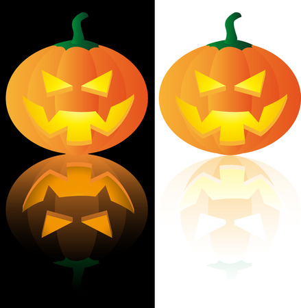 Abstract vector illustration of a halloween pumpkin Vector