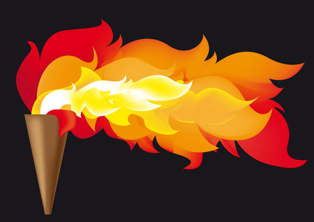 Abstract vector illustration of the sports competition flame