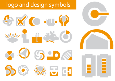 Abstract vector illustrations of logo and design symbols Vector