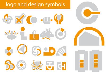 logo vector: Abstract vector illustrations of logo and design symbols
