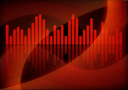 graphical: Abstract graphical design with fractal and equalizer Stock Photo