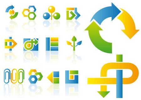 Resumen ilustración vectorial de logotipo y elementos de diseño Foto de archivo - 3644825
