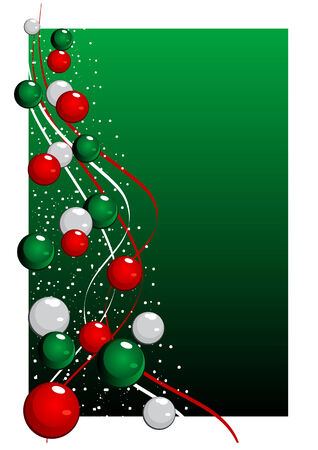 noelle: Abstract vector illustration of a christmas tree over a green background Illustration