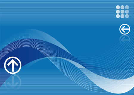 Abstract vector illustration of a blue background with space for copy