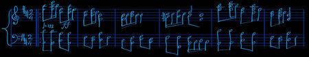 sheetmusic: Abstract vector illustration of sheetmusic composer style