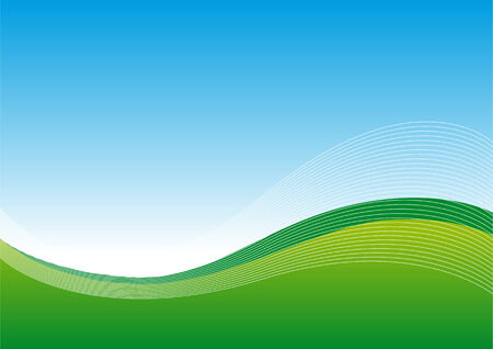 Abstract vector illustration of a landscape with blue sky Illustration