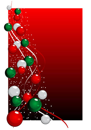 noelle: Abstract vector illustration of a christmas tree over a red background