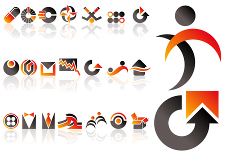 Abstract vector set of design and logo elements