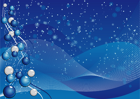 noelle: Abstract vector illustration of a blue background with lines and snowflakes