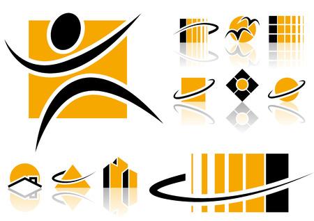 logos negocios: Resumen elementos vectoriales que se pueden utilizar para su dise�o