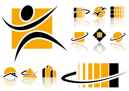 Abstract vector elements that can be used for your design Illustration