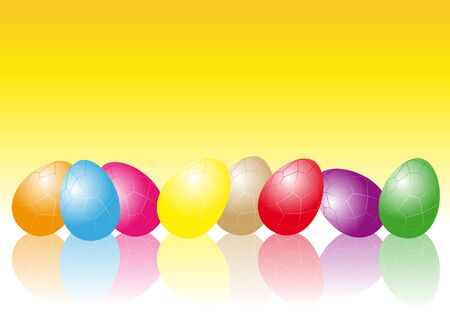 Abstract vector illustration of easter eggs in different colors Stock Vector - 4046223