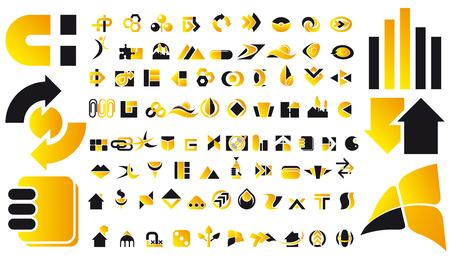 construct: Abstract vector illustratie van het logo en het ontwerp elementen